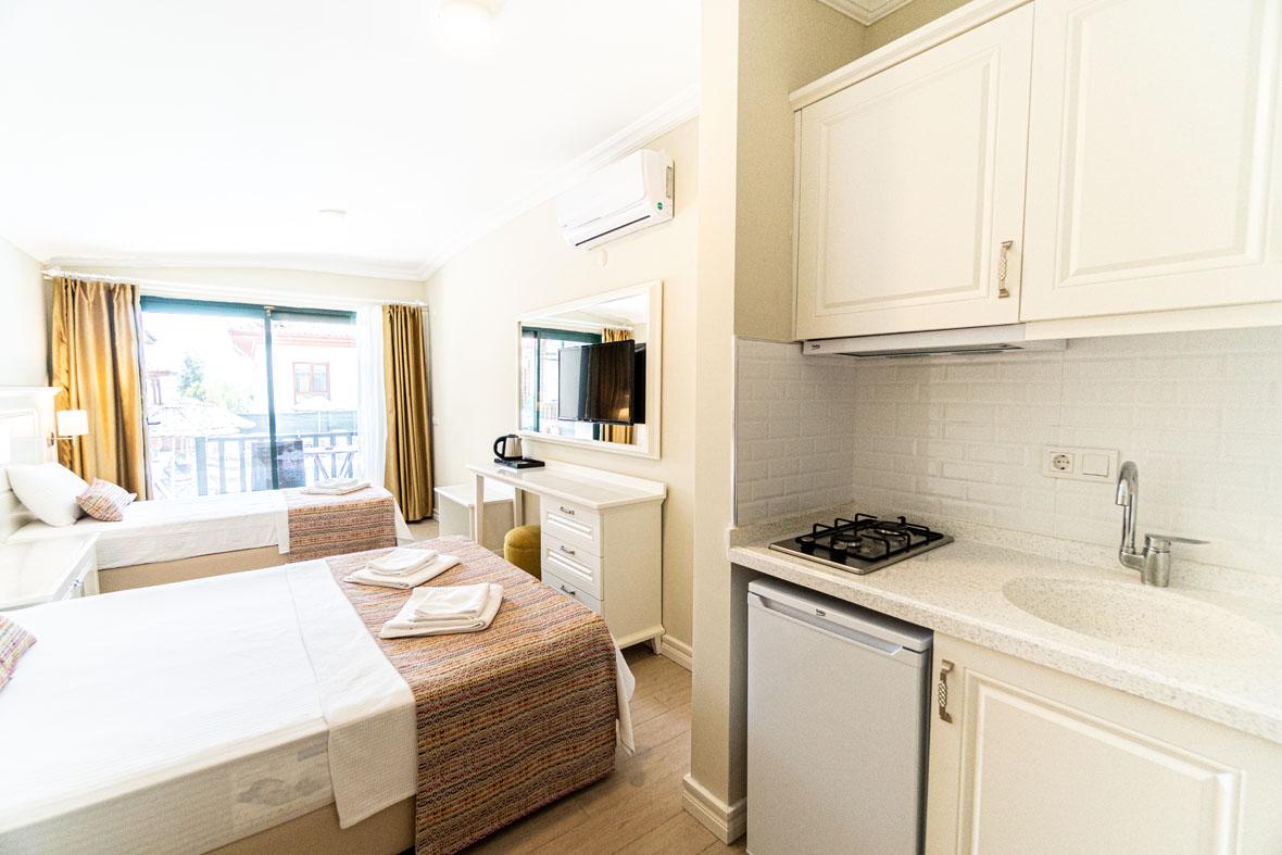 Akyaka Yeşil Otel Muğla | Üç Kişilik Oda